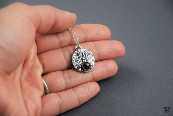 Layering jewelry silver  pendant garnet jewelry layering necklace unique jewelry Christmas gift