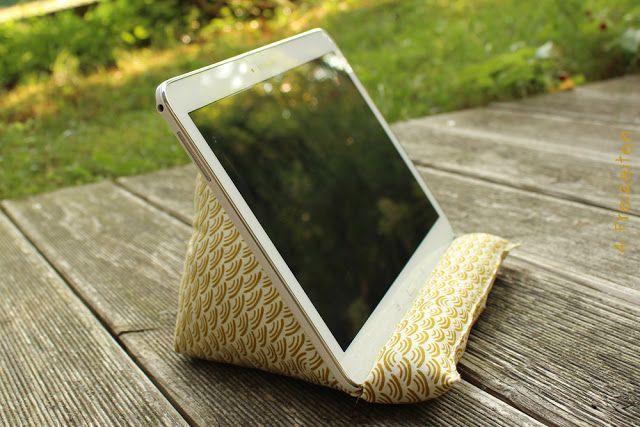 4 Freizeiten: Nähen: Ein Tablet-Kissen für mich (Frühjahrsputz im Stoffregal - GELB/ORANGE)