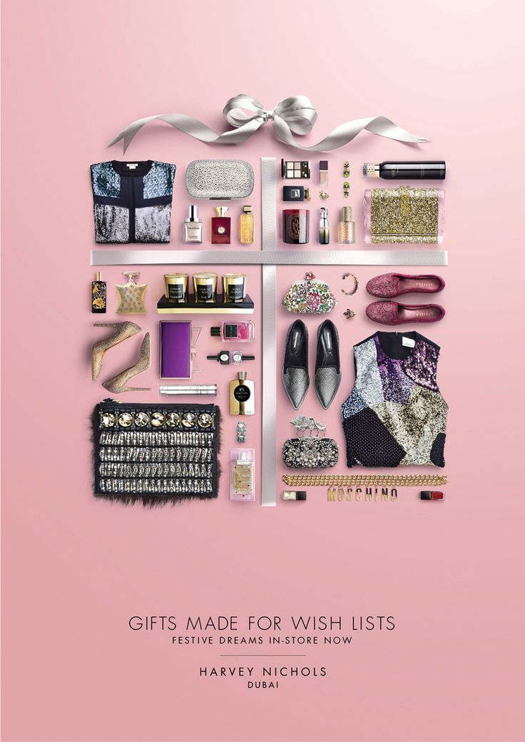 WISH LIST GIFTS - HARVEY NICHOLS FESTIVE 2014 CAMPAIGN on Behance