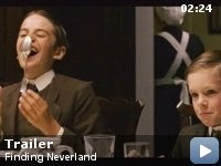 FINDING NEVERLAND, 2004 The story of J.M. Barrie's friendship with a family who inspired him to create Peter Pan.