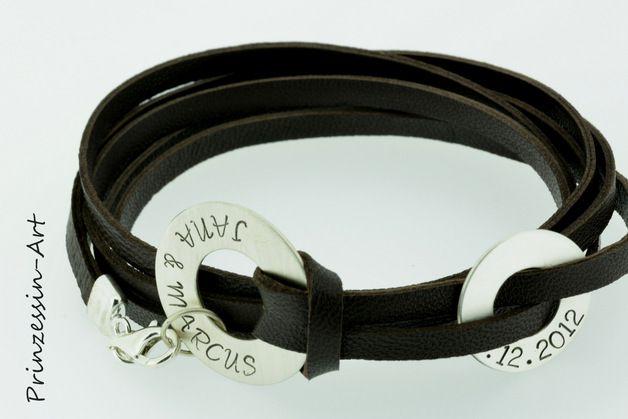 Arm accessoires - Männerarmband mit Gravur, 925 Silber, Armband Mann - Een uniek product van Prinzessin-Art op DaWanda