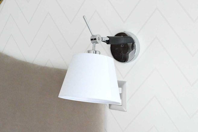 Contemporaneo / Dormitorio / Apliques / Luz de pared / Plateado / Blanco / Lectura