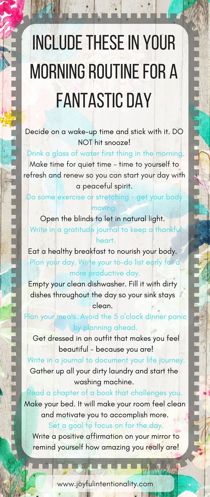 Become a productivity ninja and create the morning routine of your dreams! Have an awesome day when you follow these morning routine ideas | free printables | self-development | be awesome | positivity | intentional living | achieve greatness
