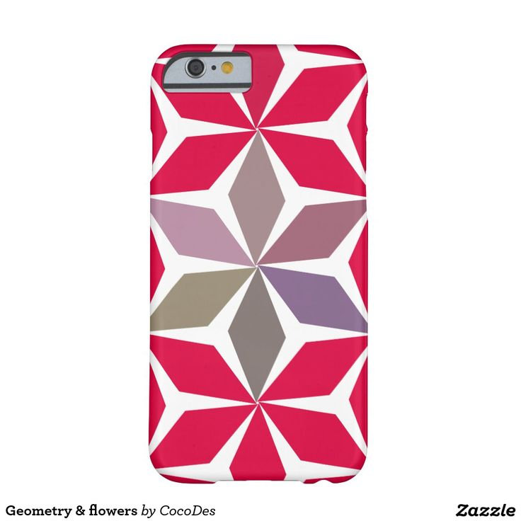 #Flowers and #diamonds barely there #iPhone6 case #zazzle. http://www.zazzle.com/geometry_flowers_barely_there_iphone_6_case-179968694910074750