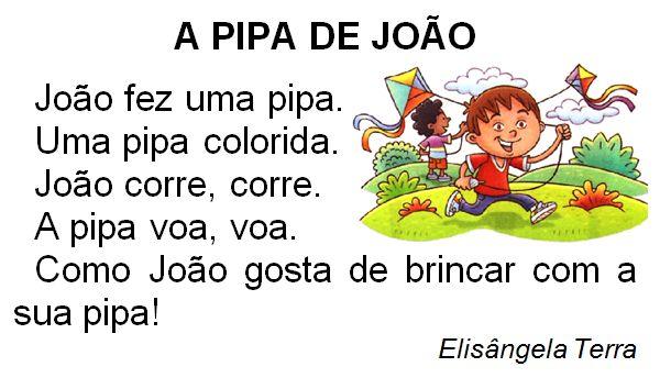 Texto A pipa de João, de Elisângela Terra