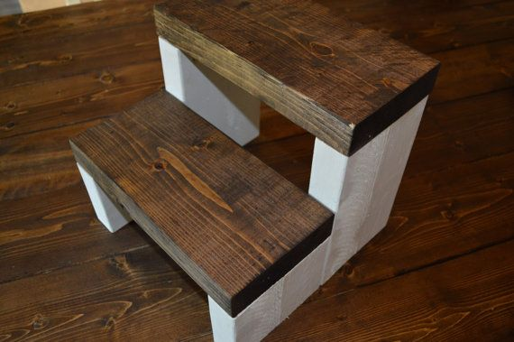 Rustic Kids Step Stool by CarriageHouseCreek on Etsy