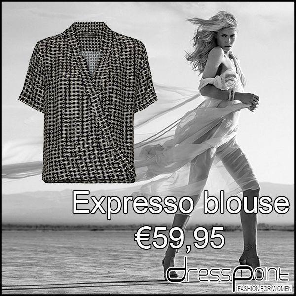 #expresso #blouse #monochrome #black #white #zwart #wit #inspiration #inspiratie #design #cute #beautifull #fashion #mode #kleding #inspire #style #stijl #outfit #winkel #dresspoint #shop #shoppen #winkel #winkelen #potd #motd #kleren