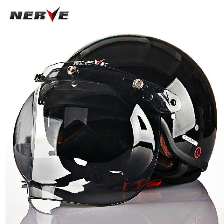 Aliexpress.com: Comprar Alemán nervio fibra de carbono Kevlar Summer Harley cascos de la motocicleta medio casco de invierno doble lente sml XL XXL de caso casco de la motocicleta fiable proveedores en SPORTS-WU
