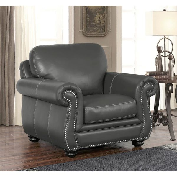 NEW ARRIVAL: ABBYSON LIVING Kassidy Grey Leather Chair