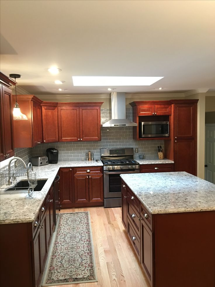 Kitchen Remodel By Garrett H. Of Rochester, NY. We Used TheYork Cherry  Cabinets