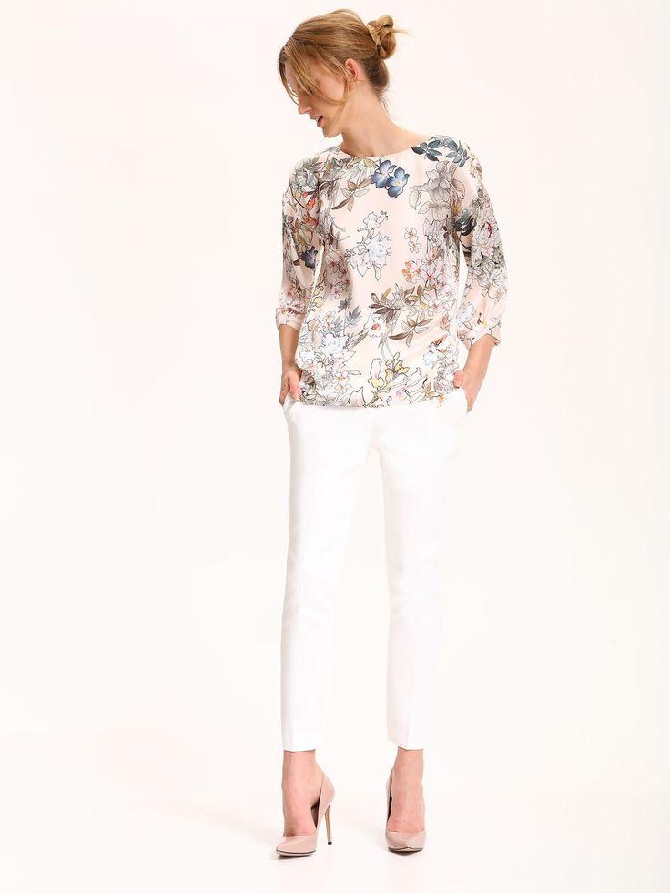 Comanda online, Bluza dama cu croi larg Top Secret piersica cu maneci trei-sferturi. Articole masurate, calitate garantata!