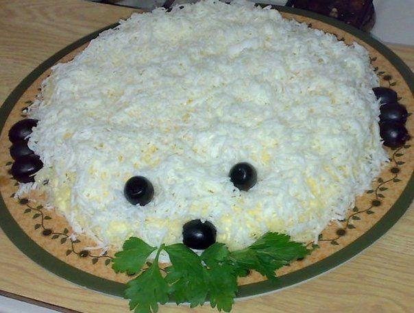 "Salata de sarbatori ""Ursul Polar"" – Cum se prepara"