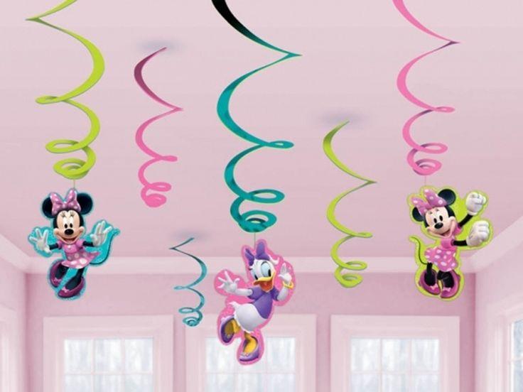 Wisząca dekoracja z Myszką Minnie - świetnie pasuje na urodziny dziewczynki
