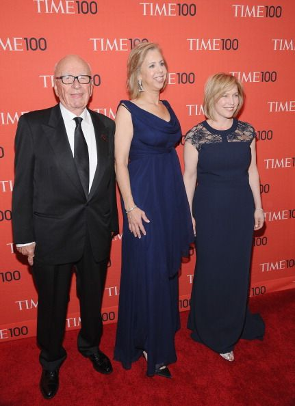 LR Rupert Murdoch TIME managing editor Nancy Gibbs and United States Senator from New York Kristen Gillibrand attend the 2014 Time 100 Gala at...
