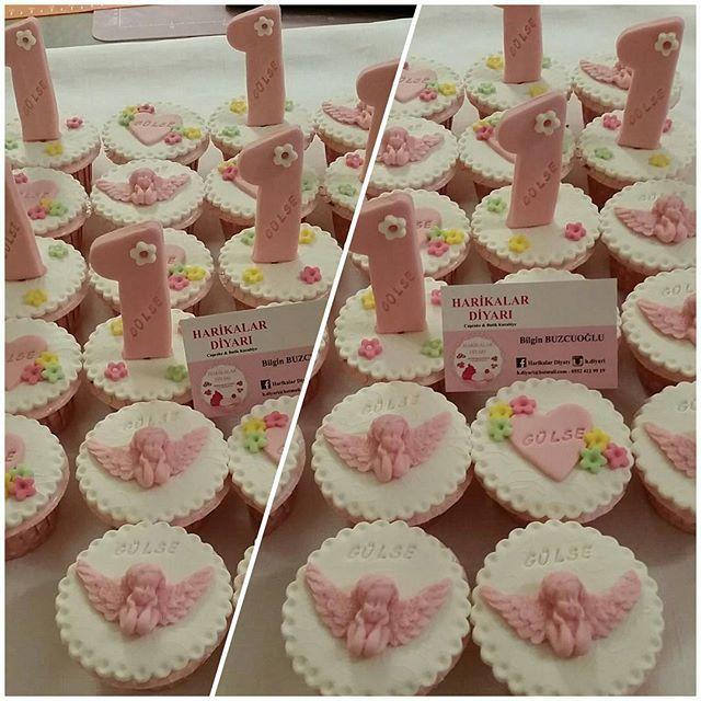 Gülse'nin cupcakeleride hazır.Nice yaşların olsun allak uzun ömürler versin inş. #evedeso #eventdesignsource - posted by Harikalar Diyarı https://www.instagram.com/h.diyari_butikkurabiye_cupcake. See more Baby Shower Designs at http://Evedeso.com