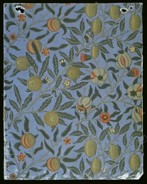 Pomegranate #wallpaper by William Morris, England, 1865-66. l Victoria and Albert Museum