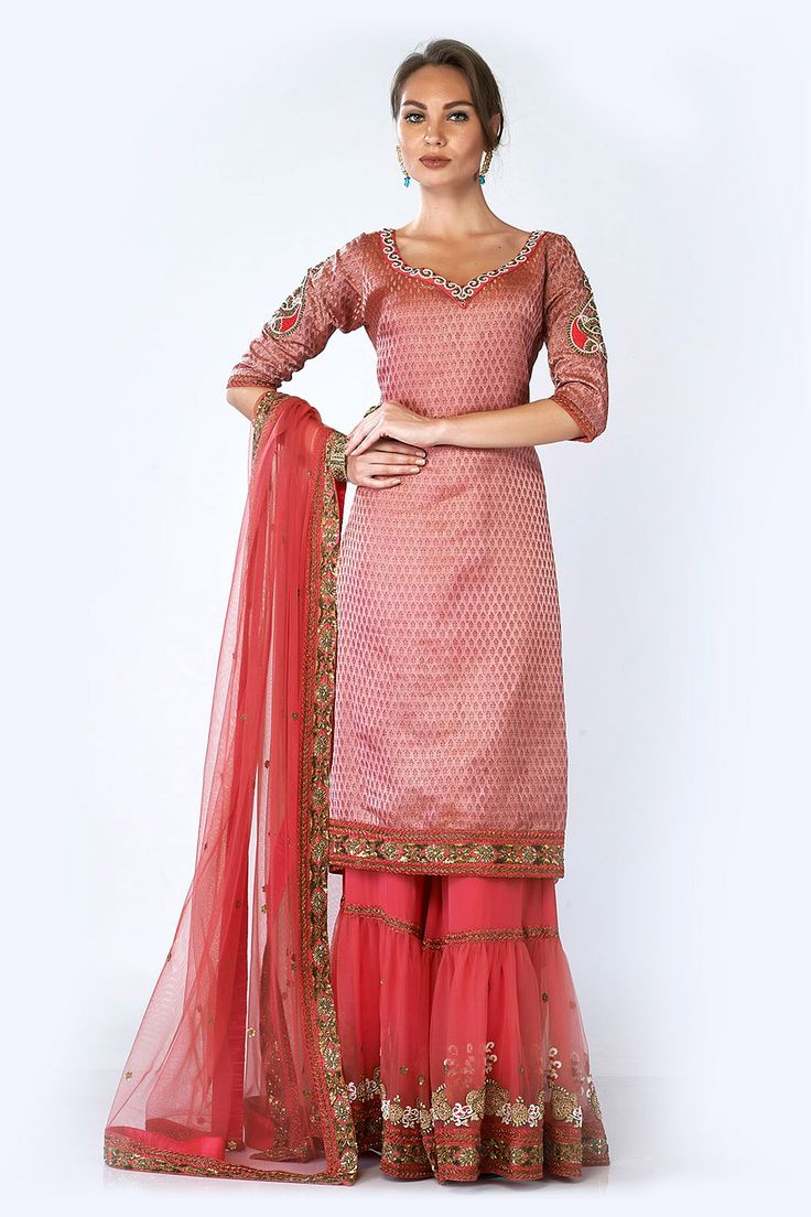 Banarsi Brocade Gharara, Indian Suits, Designer, Latest, Online
