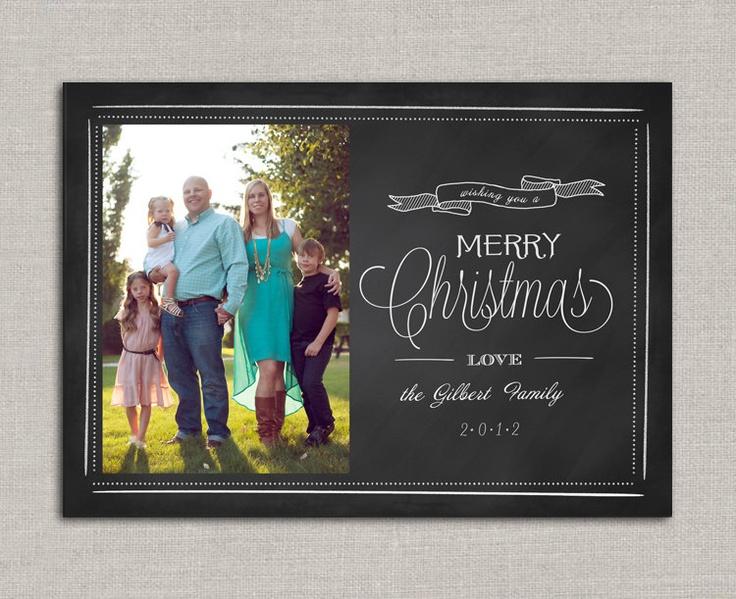 Chalkboard christmas card card inspiration chalk boards pinterest for Chalkboard christmas cards
