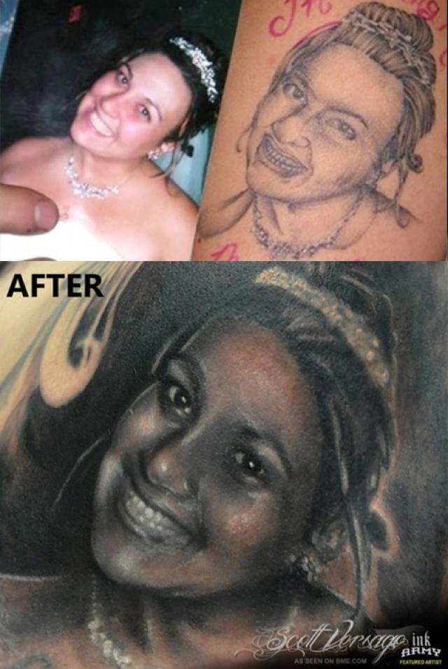 How to Fix the World's Worst Tattoo: Image courtesy Scott Versago Empire Ink