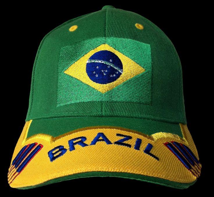 BRASIL BRAZIL BRAZILIAN WORLD SOCCER CUP ALL SPORTS CAP