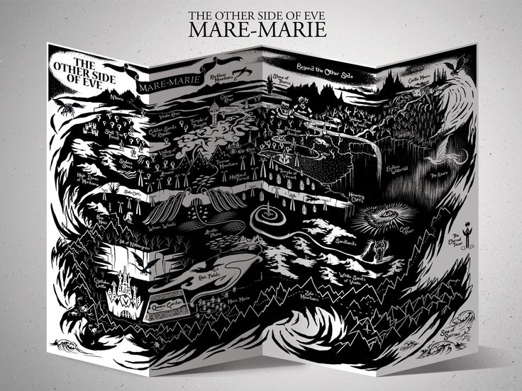 Fantasy map of Mare-Marie #fantasymap #TOSoE #map #theothersideofeve