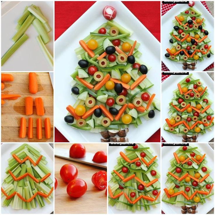 How to make Vegetable Christmas Tree Snack step by step DIY tutorial instructions, How to, how to do, diy instructions, crafts, do it yourself, diy website, art project ideas
