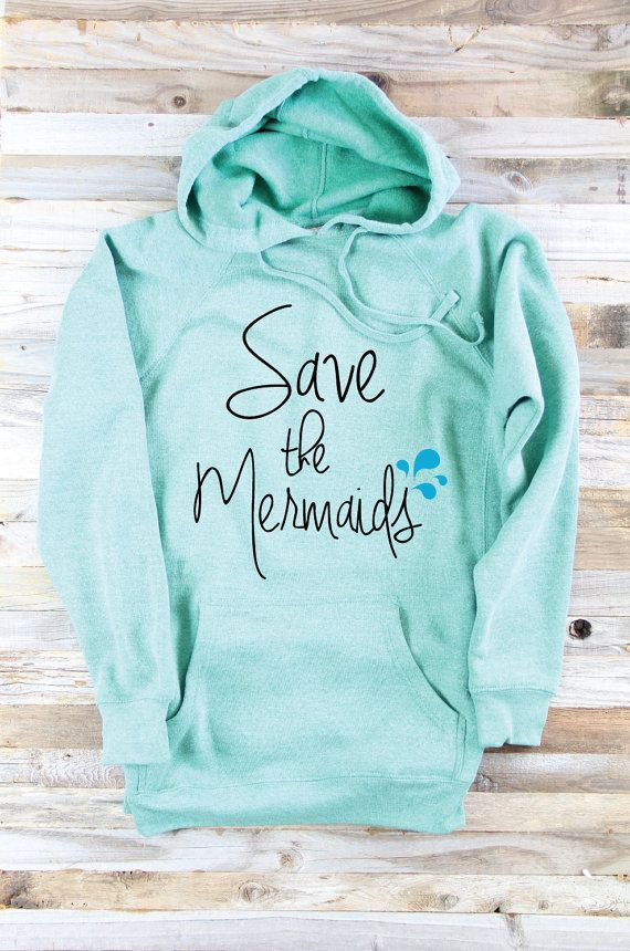 Hooded Sweatshirt - Mermaid Sweater - Mermaid Clothes - Mermaid Sweat Shirt - Mermaid Lover Gift - Surf Sweater - Cozy Beach - Surfing