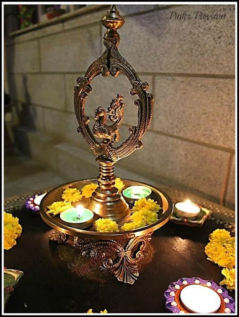 17 images about pooja decoration on pinterest backdrops for Indoor diwali decoration