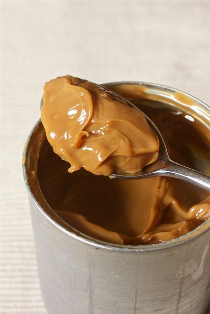 """DIY: Homemade """"Dulce de Leche"""" * It's deeper, richer, and thicker in consistency than caramel and is fantastic in frosting (or this recipe), over ice cream, as a dip for apples or pretzels, as a filling in cupcakes or cookies, swirled into hot chocolate or a latté, spooned into mason jars for Christmas treat packages (it does need to be refrigerated though!)"""