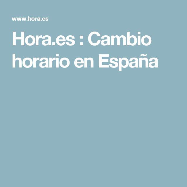 Hora.es : Cambio horario en España