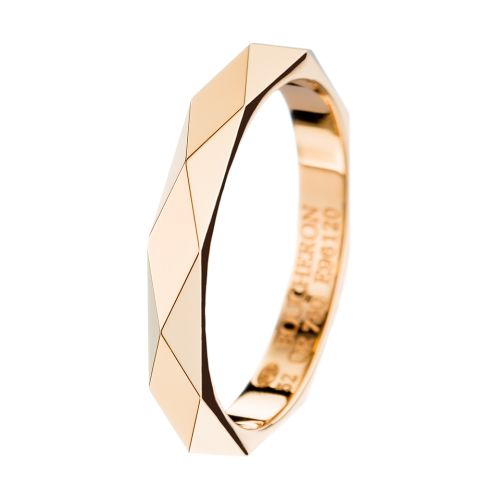 Facette yellow gold Wedding Band