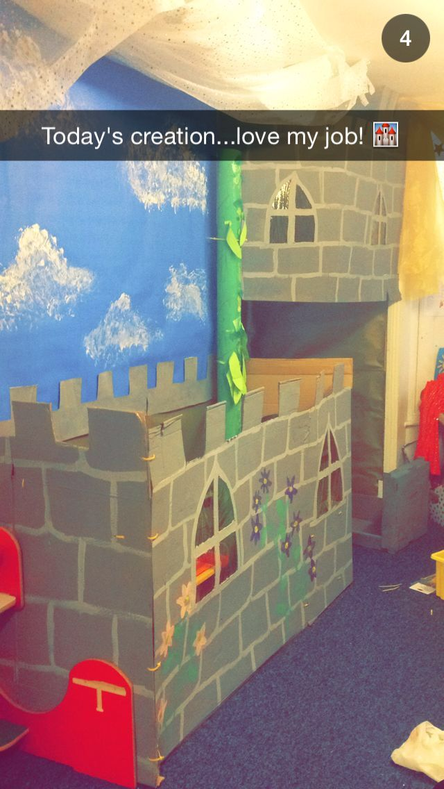 Fairytale princess castle role play area preschool nursery
