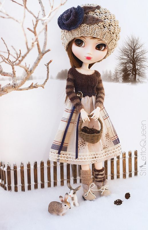 It NEVER snows in Georgia! I'm enjoying it while it lasts! | Visit www.pullip.asia for Pullip dolls and more!