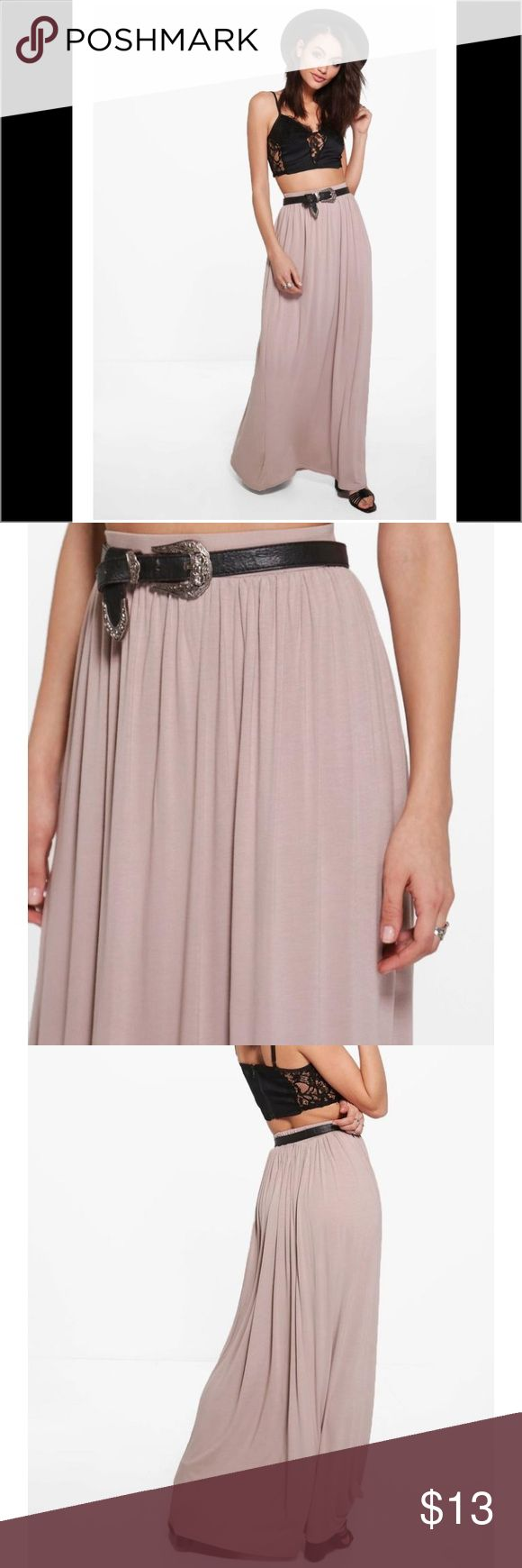 Jersey Maxi Skirt Brand new maxi skirt made of comfy lightweight jersey knit in dusty light pink. Size 6 fits like a small Skirts Maxi