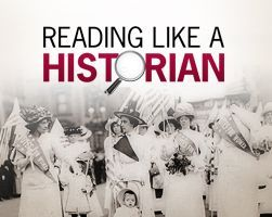 """Resource: Stanford History Education Group. This is a website with lessons aimed at teaching middle school-aged students and above to """"read like a historian;"""" the lessons require a high level of English language proficiency but could possibly be adapted for students who are at lower levels."""