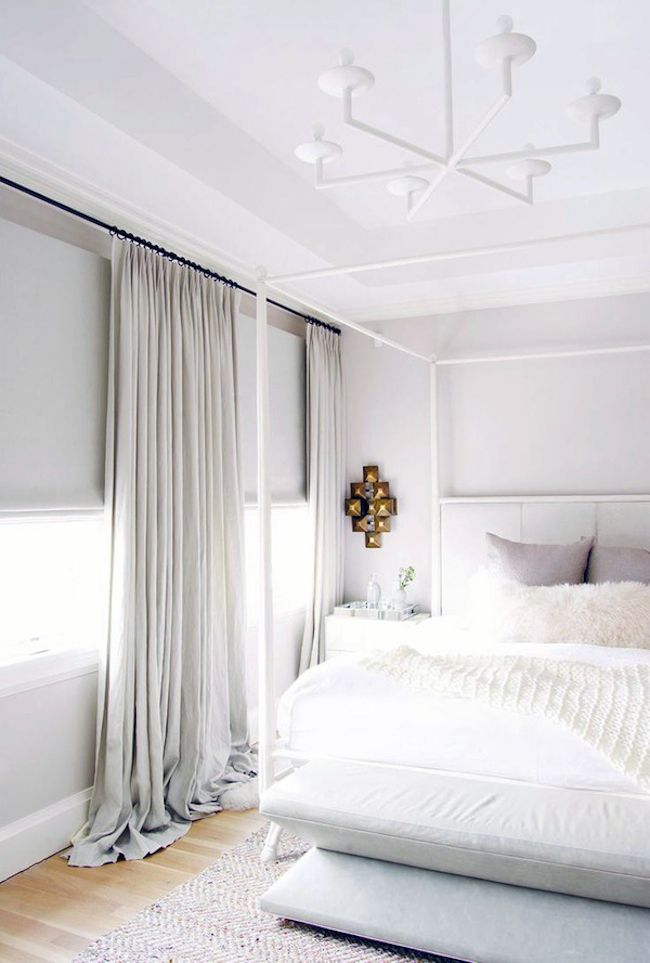Grey and white bedroom oasis