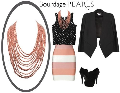 natural pink pearls! subtle yet bold :) perfect for fashion forward