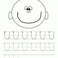 Printable Pre-print Upward Curve - Printable Preschool Worksheets - Free Printable Worksheets