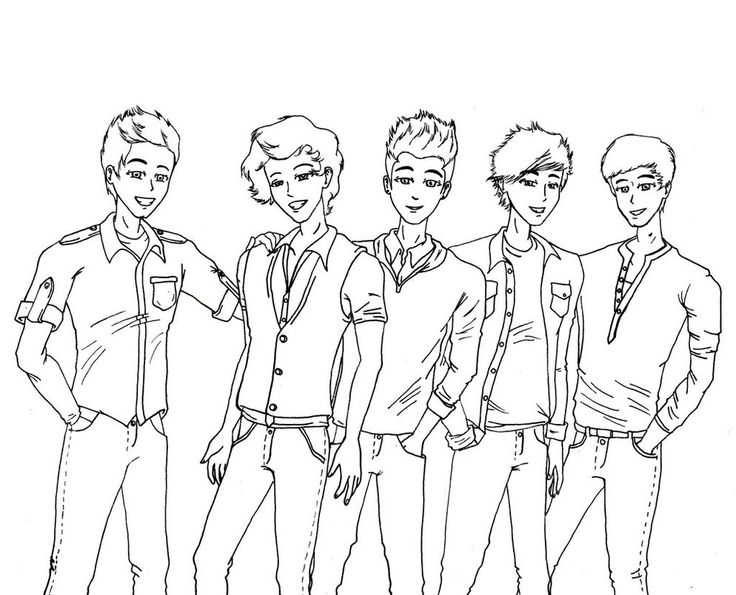 chibi one direction coloring pages - photo#8