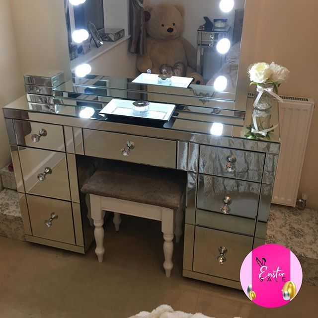 We Have Got Your Glam Space Covered The Classic Mirror 7 Drawer Dressing Table Is In Our Easter Sale 0 Glamorous Furniture Interior Styling Classic Mirror
