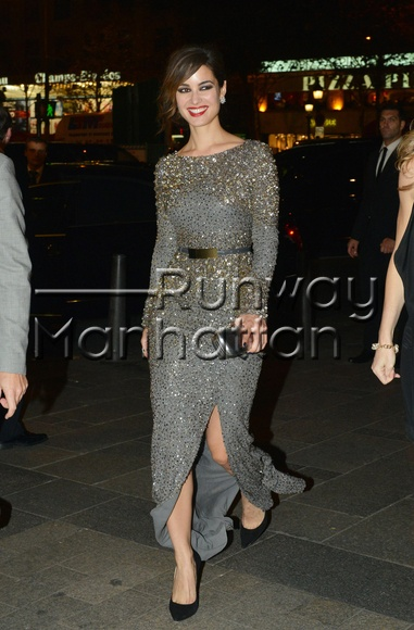 Berenice Marlohe arriving at the afterparty for the latest James Bond movie 'Skyfall' at the Terrasse Martini on the Champs-Elysees in Paris - Oct 24, 2012 - Photo: Runway Manhattan/Optic Photos