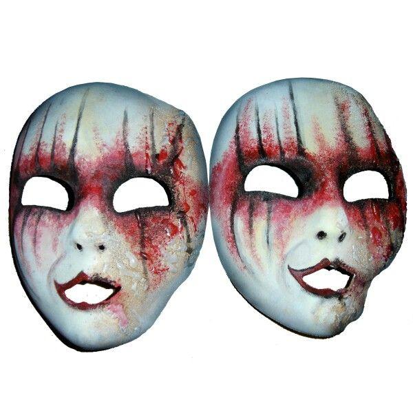 Horror theater masks /Profondo rosso/  www.lora-nikolova.com