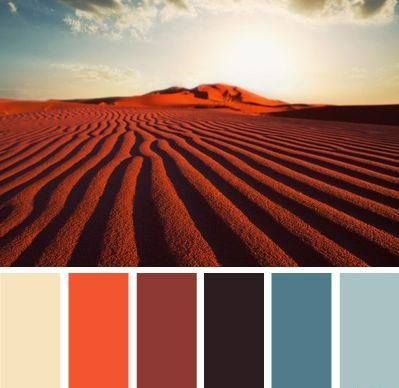 Fashion backstage secrets: the FW15 collection is called #SandStorm, the #colorpalette being inspired from the desert landscape, sometimes peaceful, other times tempestuous. #palette #desert #storm #sand #rough #fw15 #landscape #inspiration #collection #design #artlover #backstage #secret #warmpalette #sky #dunes #orange #blue #cream #black