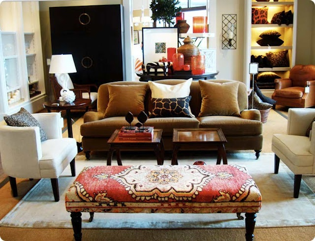 Furniture , Best Upholstered Bench : Living Room With Sofa And Coffee Table  And Chairs And Upholstered Bench