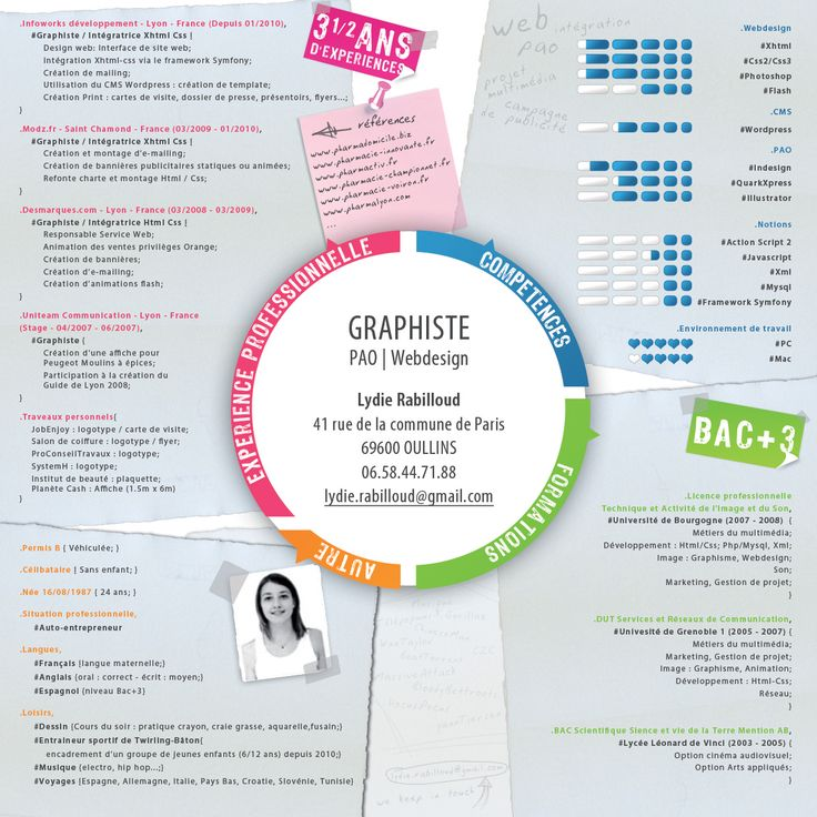 14 best cv graphique images on Pinterest | Creative curriculum