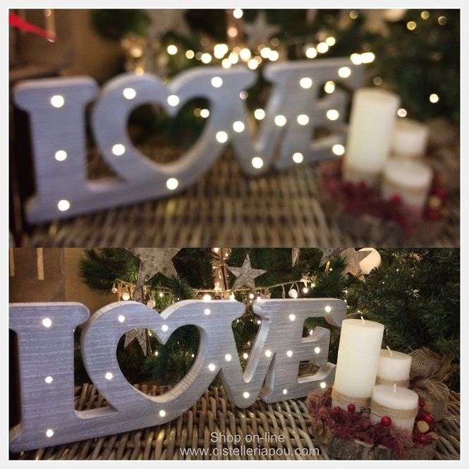 Letras LOVE, letras XMAS, letras con luz LED, decoración con letras, iluminación de Navidad para el escaparate, escaparate de Navidad. Decoración de Navidad. Proveedor de complementos de decoración