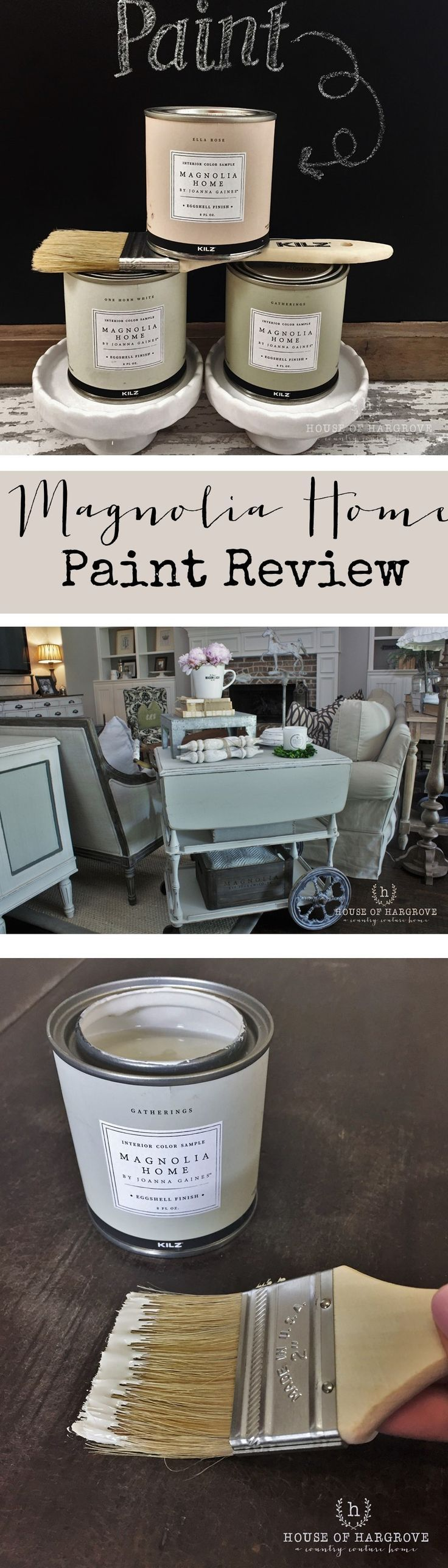 Magnolia Home Paint Review - Sharing my thoughts on the new Magnolia Home Paint line by Joanna Gaines. I used it to make over an antique piece of furniture. If you have been interested in trying it read my full review. Fixer Upper Fans...get a piece of Joanna in your own home.