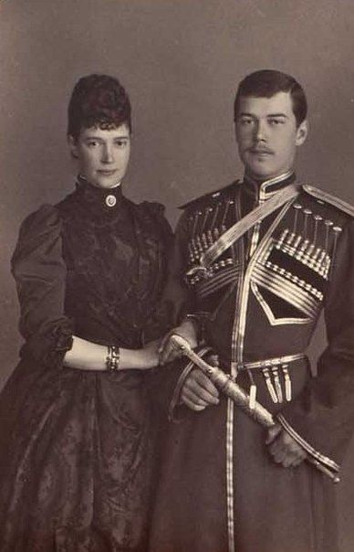 Nicholas and his mother Maria Feodorovna.
