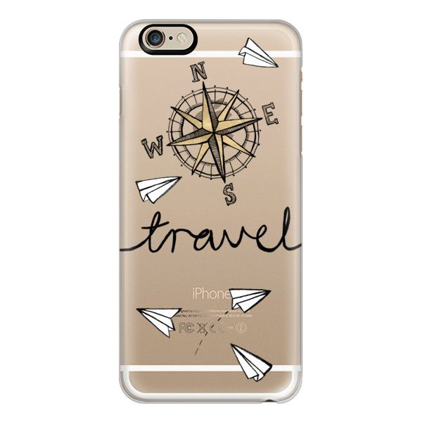 iPhone 6 Plus/6/5/5s/5c Case - Travel + Compass + Paper Planes on... ($40) ❤ liked on Polyvore featuring accessories, tech accessories, phone cases, phones, cases, electronics, iphone cases, slim iphone case, clear iphone cases and iphone cover case