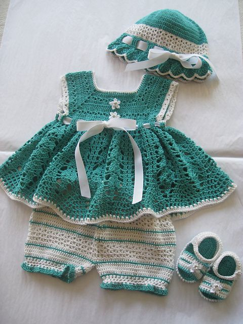 Ravelry: Seafoam Sunsuit with Bloomers pattern by Maria Bittner